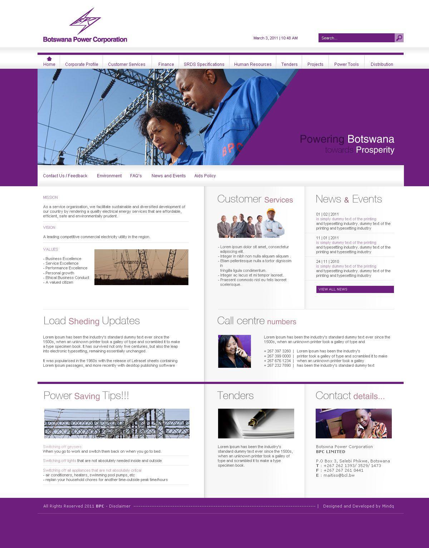 Botswana Power Corporation Website 2011 Mindq